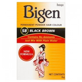 BIGEN HAIR COLOR BLACK BROWN 6GR.