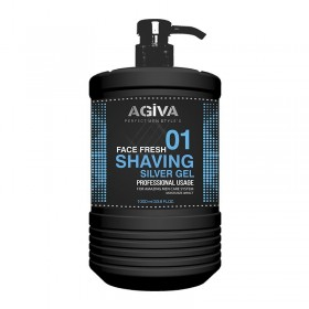 AGIVA SHAVING GEL 1000 ML SILVER