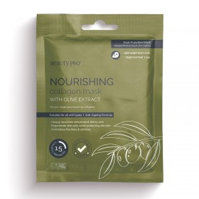 BEAUTY PRO NOURISHING COLLAGEN SHEET MASK WITH OLIVE EXTRACT 23G