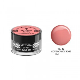 BUILD GEL UV/LED COVER CANDY ROSE 14 15ML