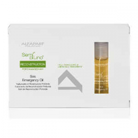 ALFAPARF MILANO SEMÍ DÍ LÍNO RECONSTRUCTION SOS EMERGENCY OIL FOR DAMAGED HAIR 6 X 13 ML