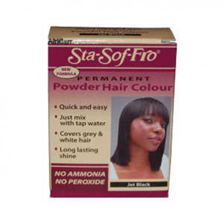 PERMANENT POWDER HAIR COLOUR JET BLACK 6GR