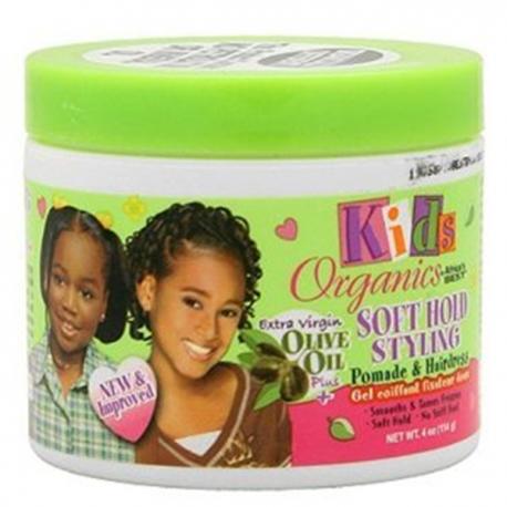 KIDS ORGANICS SOFT HOLD STYLING POMADE & HAIRDRESS 114GR
